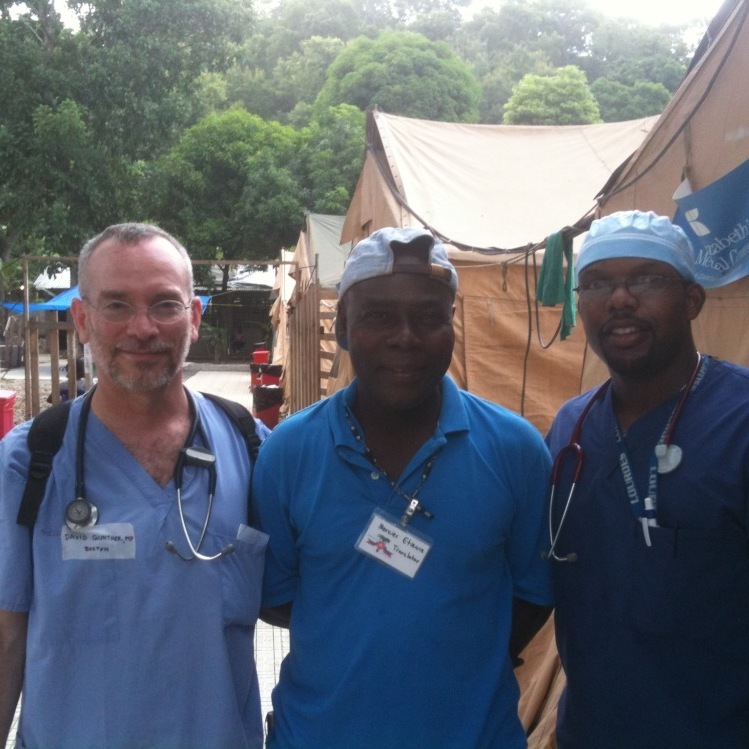 Etienne Mercier, a Haitian-English interpreter, and the man on the right is Dr. Bernard (David is pretty sure his first name is Jerry), the main surgeon at the hospital (Hôpital Sacré Coeur, in the town of Milot).