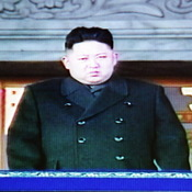 A television frame grab taken from North Korean TV today (Dec. 29, 2011) shows Kim Jong Un during a memorial service for his father, Kim Jong Il.