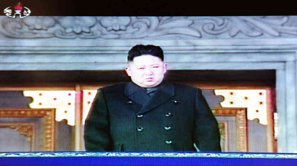 A television frame grab taken from North Korean TV today (Dec. 29, 2011) shows Kim Jong Un during a memorial service for hi
