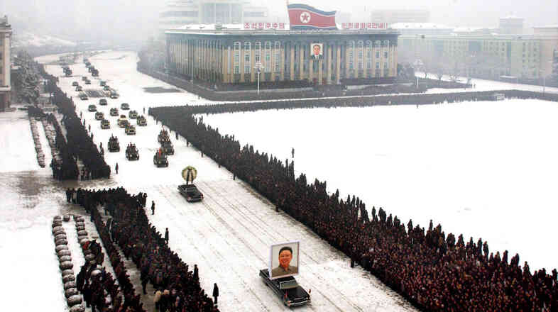 This image, released by the North Korean Central News Agency, was taken within seconds of the one above.