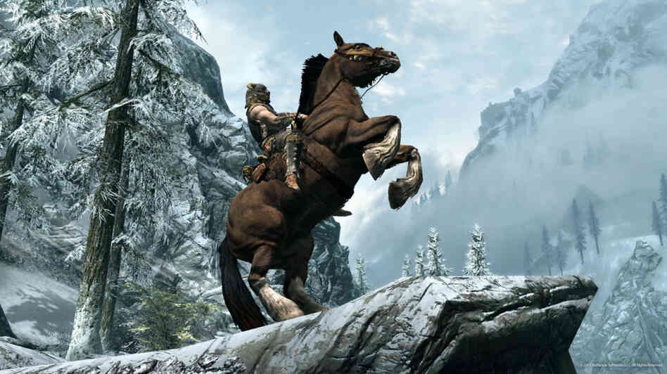 A screenshot from The Elder Scrolls V: Skyrim, one of the best video games of 2011.