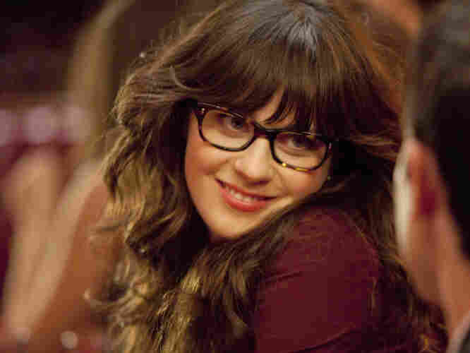 """Zooey Deschanel plays Jess on Fox's New Girl. Fox uses the term """"adorkable"""" to describe her."""