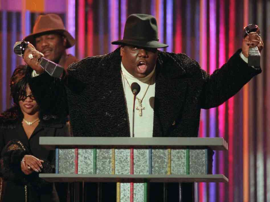 "The word ""Hater"" — as it's often used today — is derived from the term ""Player Hater,"" a phrase popularized by late rapper Notorious B.I.G., shown here clutching his Billboard Music Awards in 1995."