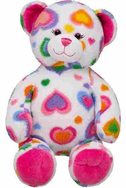 Build-A-Bear has recalled almost 300,000 Colorful Heart teddy bears.