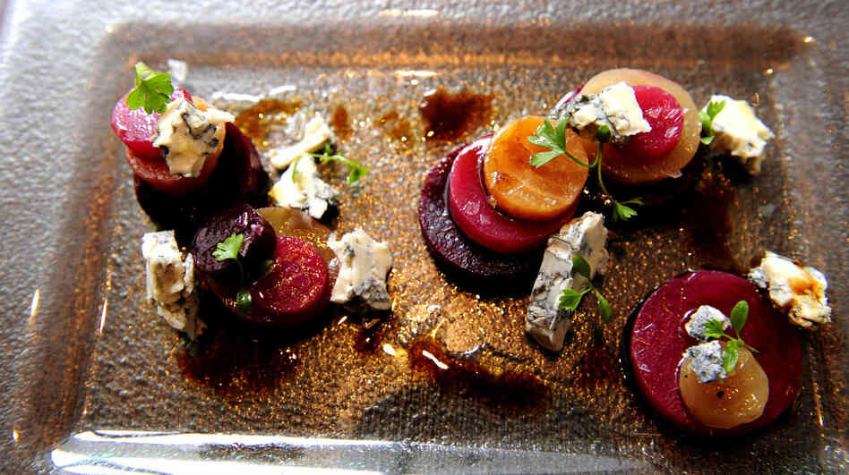 Heirloom beets served at Bibiana Restaurant in downtown Washington, D.C.