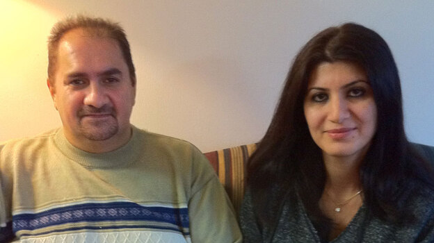 Hesham Abdul Ghani and his wife, Oras Touma, came to Michigan to escape religious persecution. (NPR)