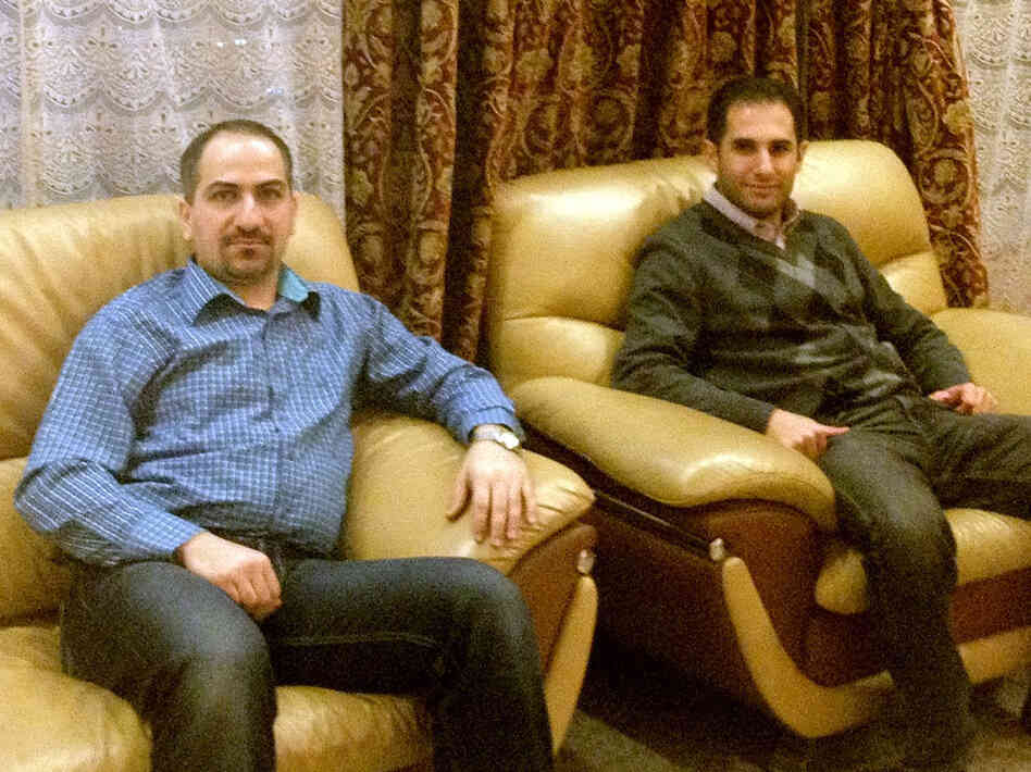 Sayf al-Tabaqchali (left) and his best friend, Yaser al-Hadithi, are repeating their medical residencies in the