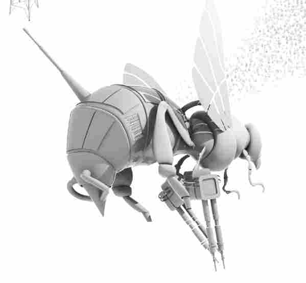 A robotic bee.