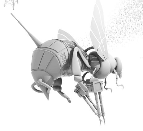 A robotic bee.