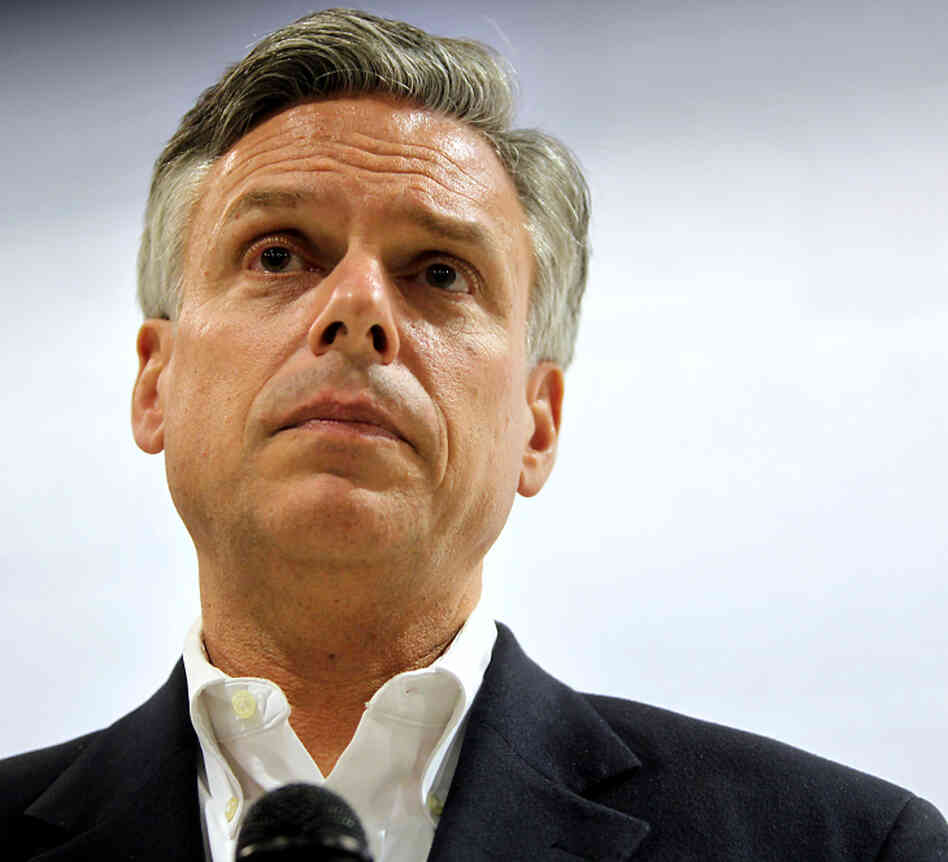 GOP hopeful Jon Huntsman in Milford, N.H., on Dec. 8.