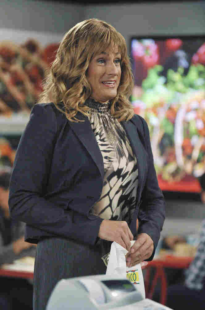 Benjamin Koldyke dresses as a woman in ABC's new very bad comedy, Work It.