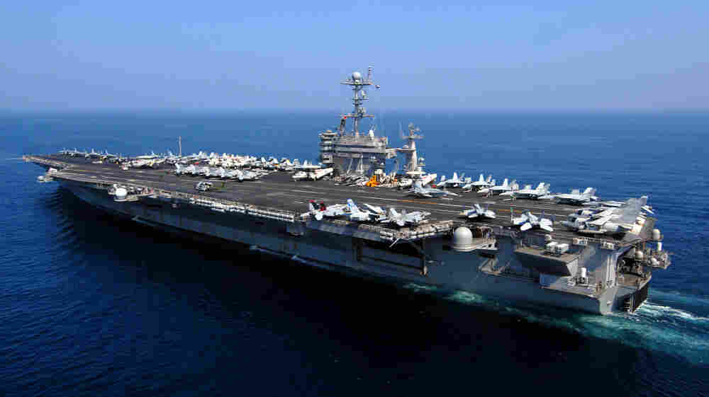 Iran claims the USS John C. Stennis has entered a zone near the Strait of Hormuz, which is being used by the Iranian navy for wargames.
