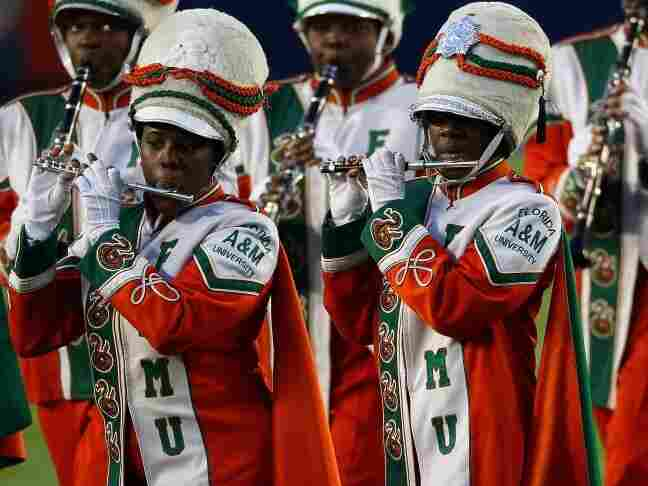 Members of the Florida A&M University marching band perform prior to Super Bowl XLIV on Feb. 10, 2010.