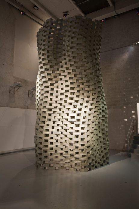 The tower created by the Flight Assembled Architecture project.