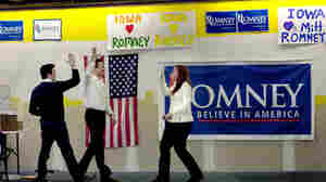 Mitt Romney campaign headquarters in Des Moines, Iowa, Dec. 30, 2011