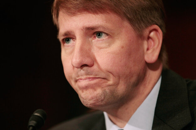 Richard Cordray testifies during his confirmation hearing on Capitol Hill in September. His nomination to head the consumer watchdog agency was blocked by Senate Republicans.