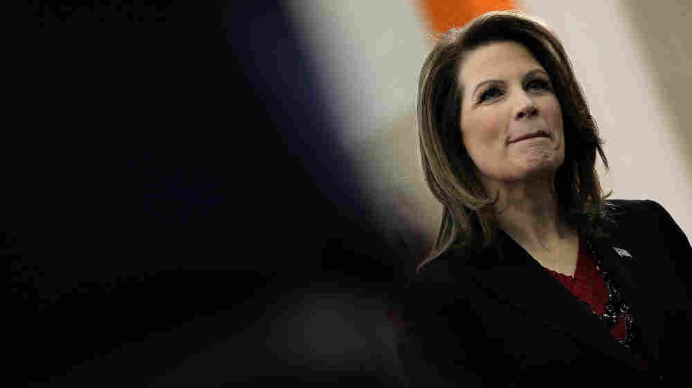 """Minnesota Rep. Michele Bachmann, who got just 5 percent of the vote in Iowa's caucuses, referred to herself Tuesday as the """"true conservative who can and who will defeat Barack Obama in 2012."""" On Wednesday, she bowed out of the race."""