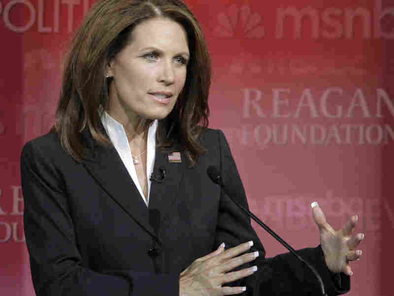 Rep. Michele Bachmann answers a question during a Republican presidential candidate debate at the Reagan Library on Sept. 7, in Simi Valley, Calif.