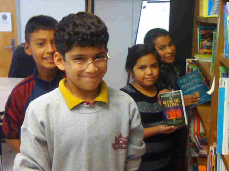 Fifth-graders Miquel Vasquez, Luis Hernandez, Erica Medrano and Victor Vasquez are part of Vardaman Elementary School's growing Hispanic student population.