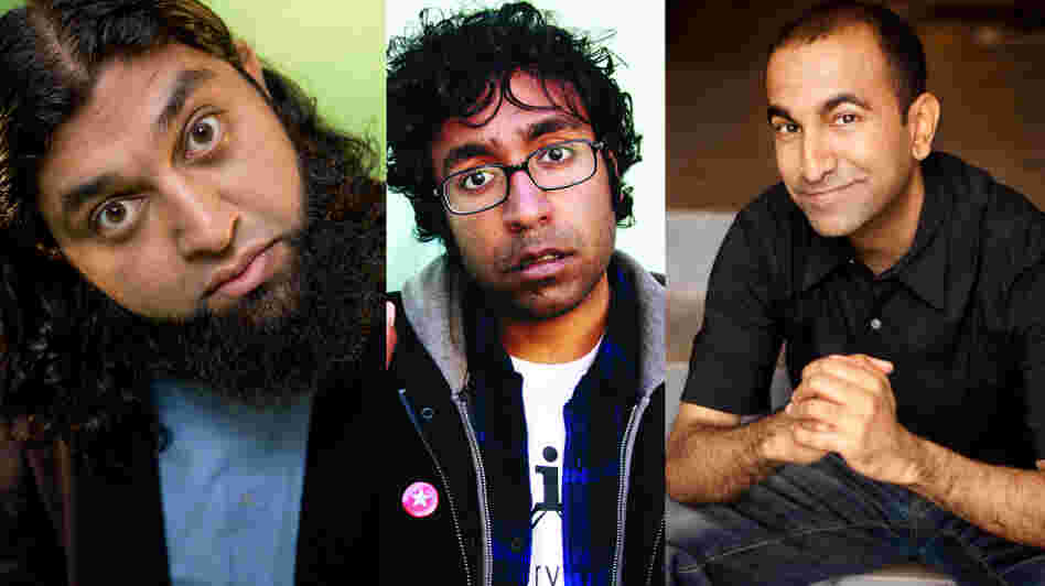 Azhar Usman (left), Hari Kondabolu and Rajiv Satyal are heading to India for the Make Chai Not War comedy tour.
