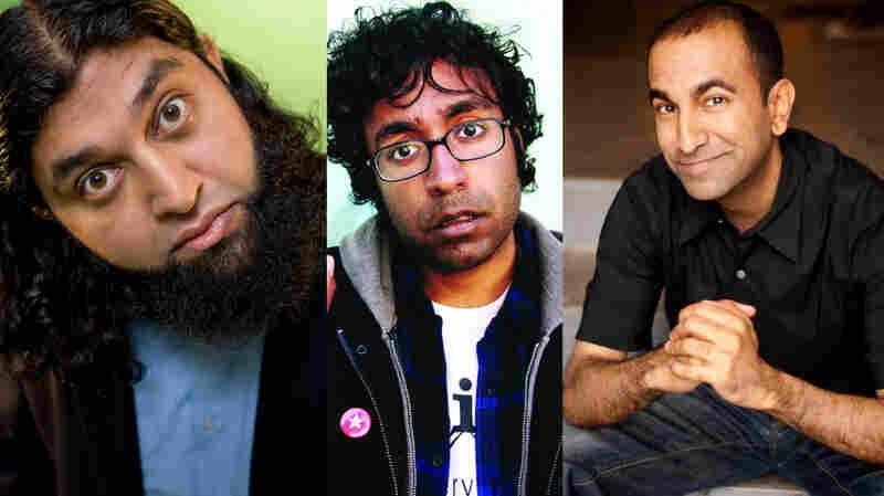 Azhar Usman (left), Hari Kondabolu and Rajiv Satyal are heading to India for the Make Chai Not War comedy tour.