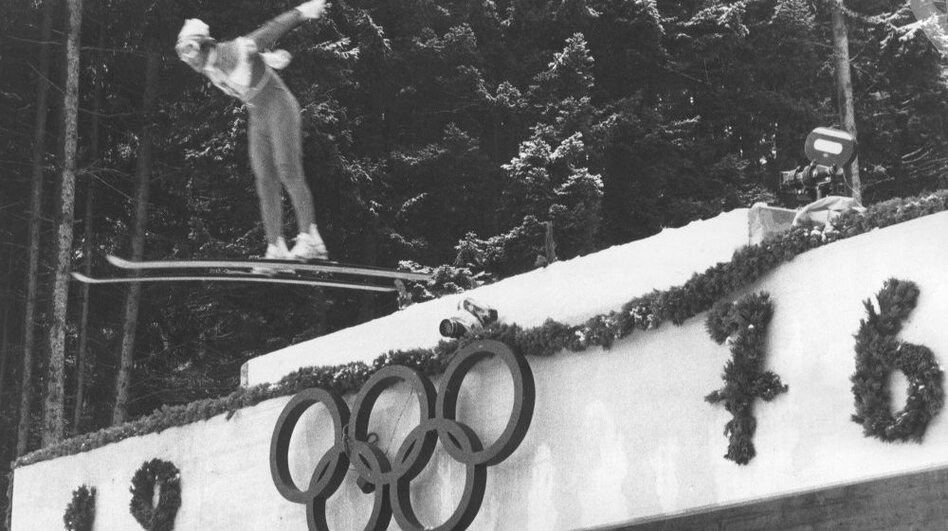 February 1976: The Winter Olympics were moved to Innsbruck, Austria, after Denver decided it couldn't host them. (Getty Images)