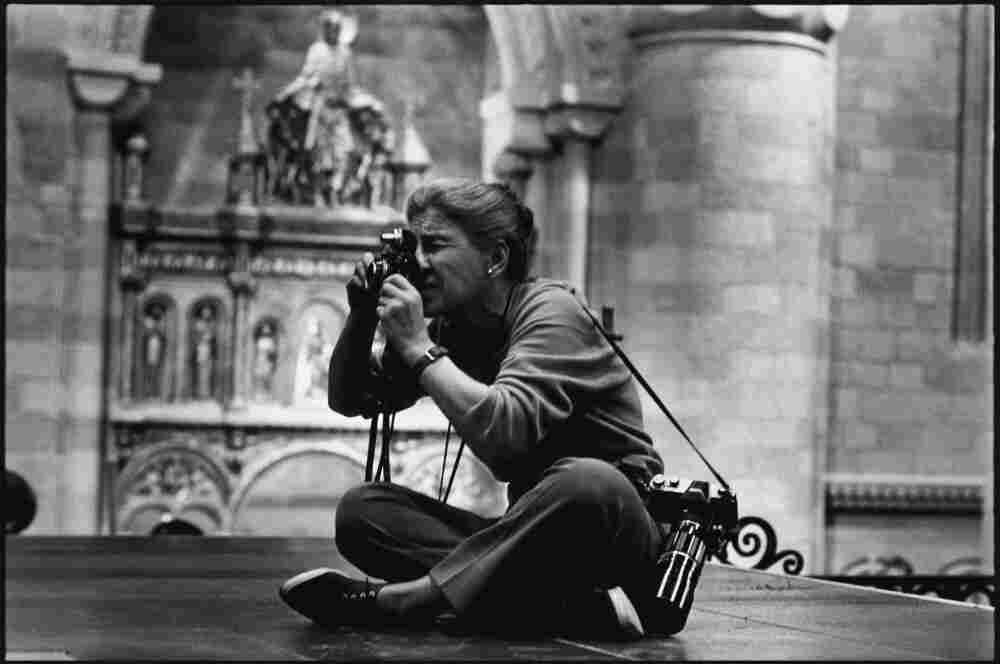 Eve Arnold on the set of Becket, 1963.