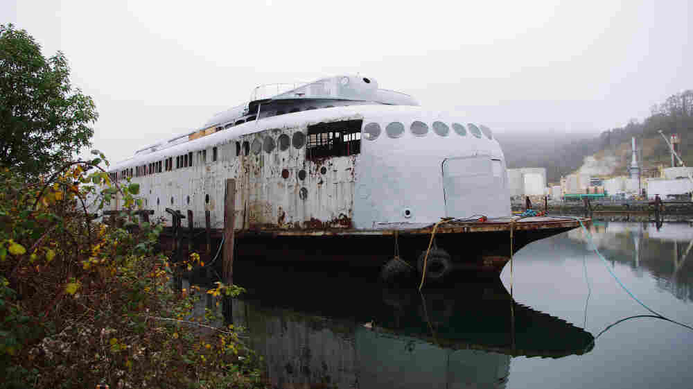 Not Dead Yet: On July 3, 1935, the Kalakala started daily ferry service between Seattle and Bremerton, Wash. Today, it sits unused in a nearby Tacoma dock.