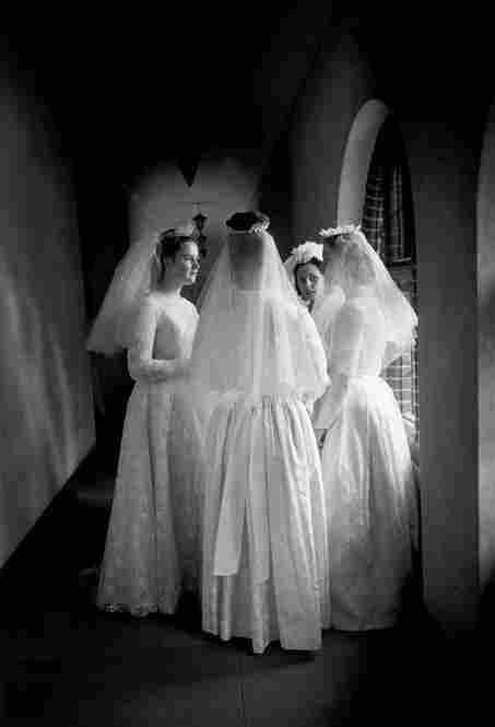 Nuns on the day of their wedding to the Lord, Surrey, England, 1965.