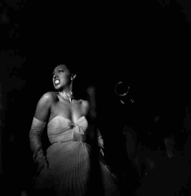 Performer Josephine Baker in Harlem, 1950.
