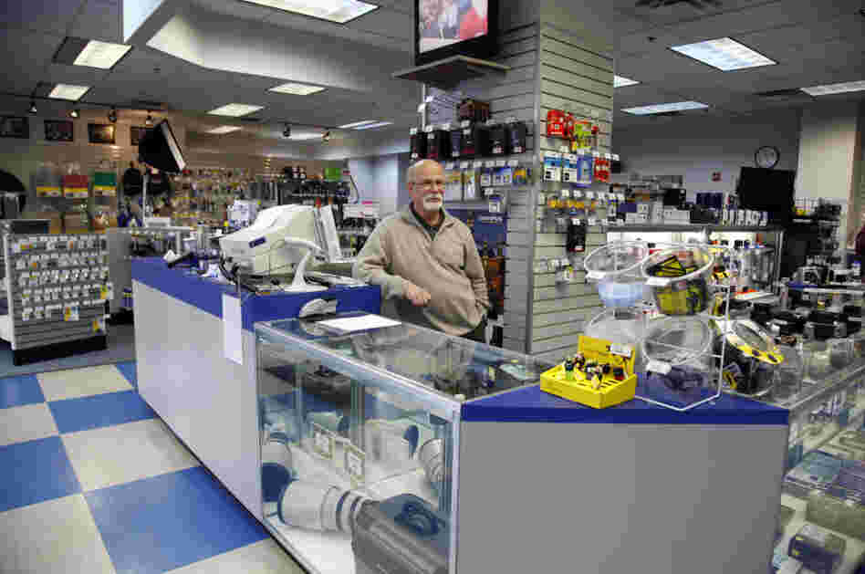 Peter Howe, 62, has been working in one Penn Camera store in downtown D.C. since it opened.
