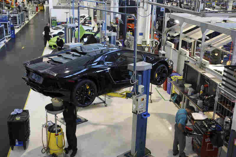 Lamborghini was founded in Italy in 1963 at its Sant'agata Bolognese factory seen here, and was purchased by Volkswagen in 1998. VW also owns the more budget-friendly Spanish SEAT and the Czech Skoda, whose cars aren't sold in the U.S., and is in a legal battle with Porsche over a potential merger.
