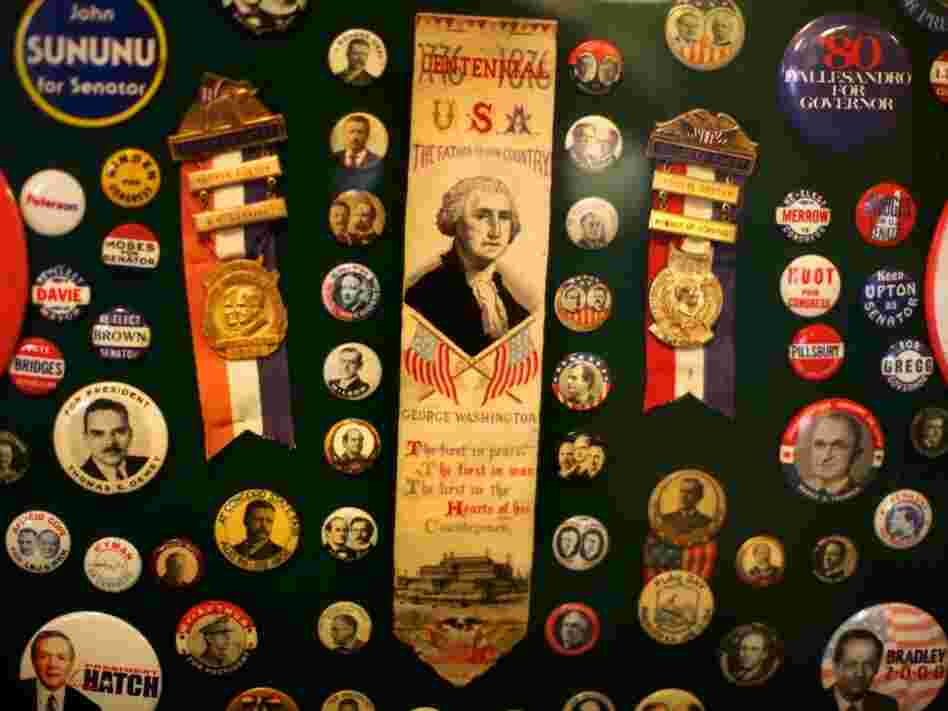 Political memorabilia fill the old-time general store.