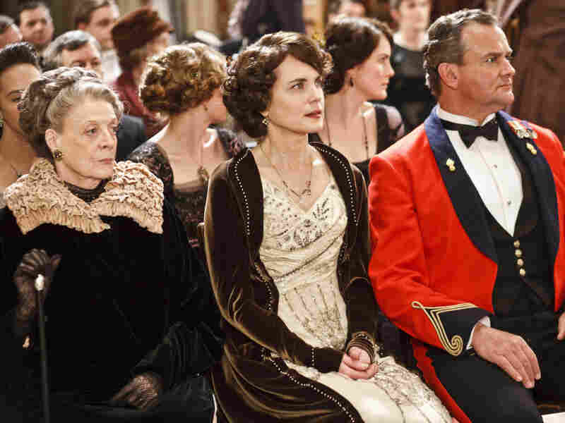 McGovern (center) is part of a redoubtable ensemble cast that includes Maggie Smith as her mother-in-law, the Dowager Countess of Grantham, and Hugh Bonneville as her husband the Earl.