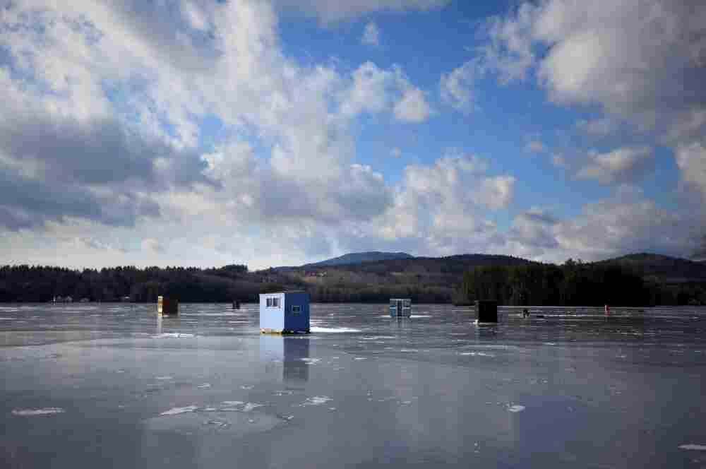 Taking new hampshire 39 s temperature on a frozen lake it for Ice fishing nh