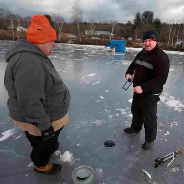Taking New Hampshire's Temperature, On A Frozen Lake