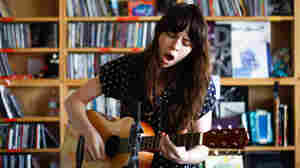 Teri Gender Bender of Le Butcherettes performs a Tiny Desk Concert at the NPR Music offices.