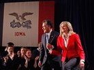 Republican presidential candidate Mitt Romney and his wife Ann Romney on Jan. 3, the night of the Iowa Caucuses, in Des Moines, Iowa.