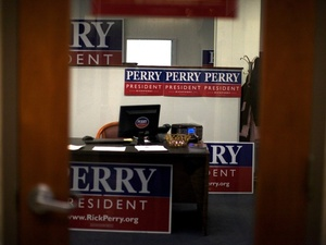 Texas Gov. Rick Perry is barely registering in the polls in New Hampshire, which holds its primary on Tuesday.