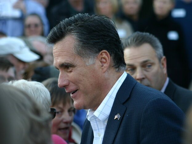 Mitt Romney greets supporters at the end of a campaign rally in Charleston, S.C., on Thursday.