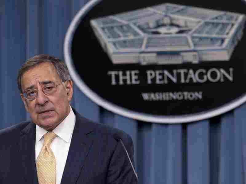 Secretary of Defense Leon Panetta speaks about the Defense Strategic Review, outlining defense budget priorities and cuts, during a press briefing at the Pentagon on Jan. 5.