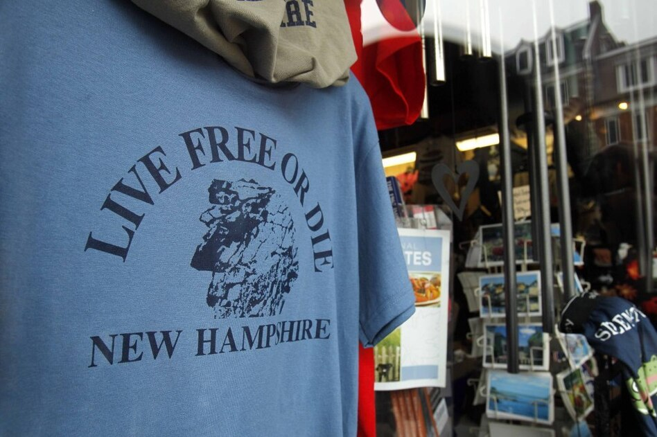 """In New Hampshire, you are expected to think for yourself and live up to the state's motto, """"Live Free or Die.""""  (Robert F. Bukaty/AP)"""