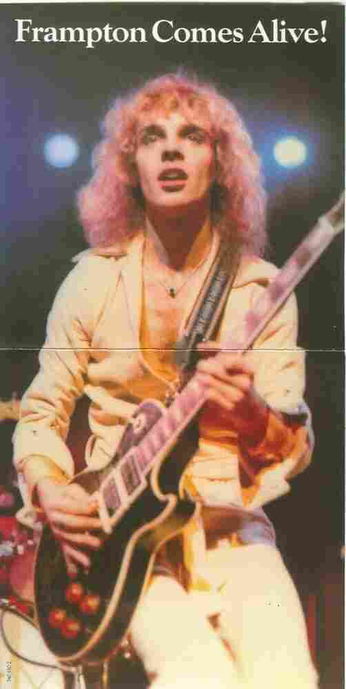 The unfolded LP cover of Frampton Comes Alive!, featuring Peter Frampton and his custom Les Paul.
