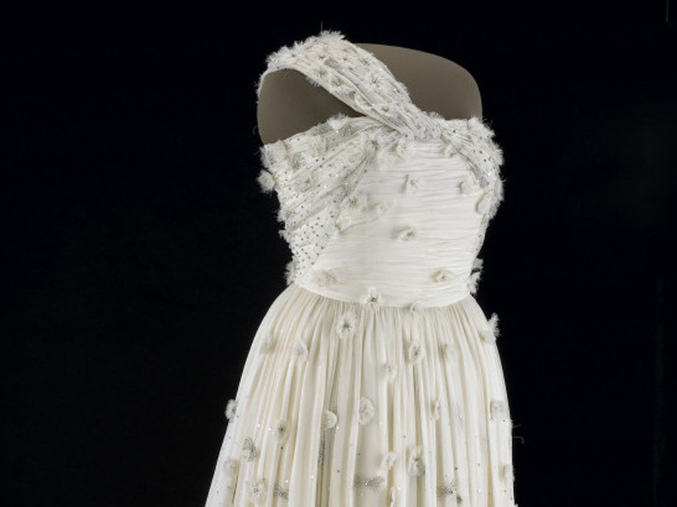 First lady Michelle Obama's inaugural gown. (Courtesy of the Smithsonian's National Museum of American History)