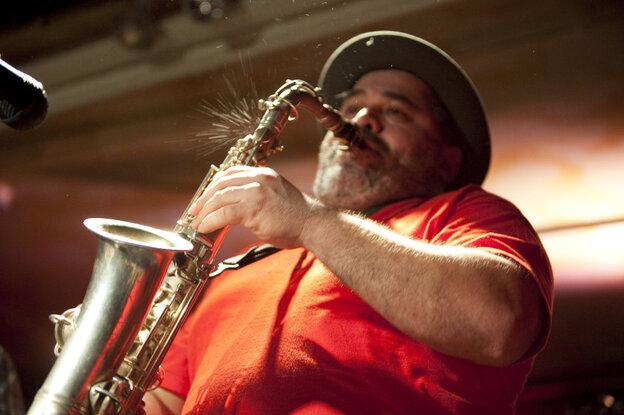 Oscar Noriega performs at Kenny's Castaways during Winter Jazzfest 2012.