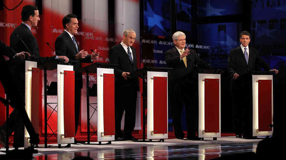 The Republican presidential candidates duke it out at the NBC News-Facebook debate on Meet the Press on Sunday.