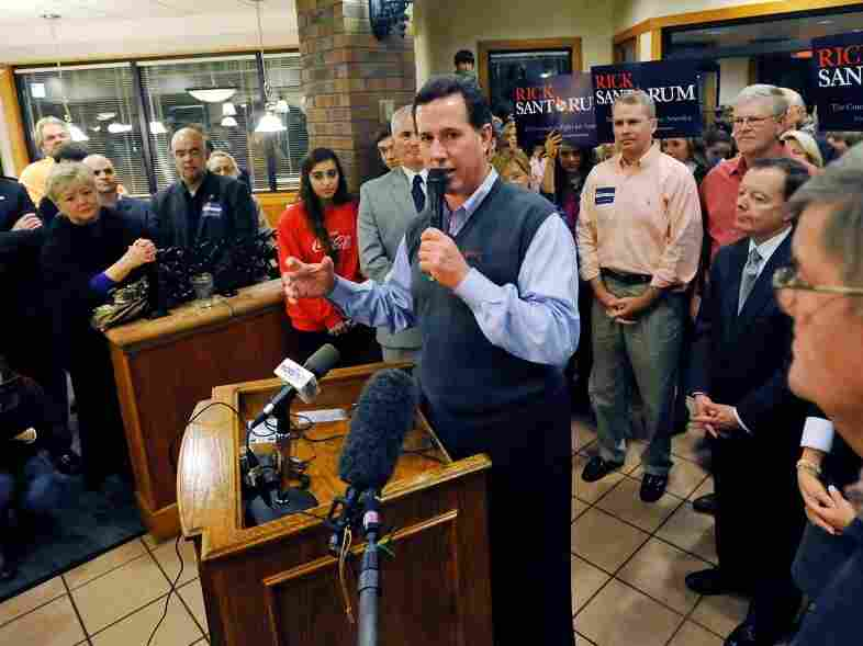Rick Santorum speaks at Stax's Original Restaurant Jan 8, 2012 in Greenville, South Carolina. The New Hampshire primary is Tuesday but candidates are looking forward to South Carolina's race.