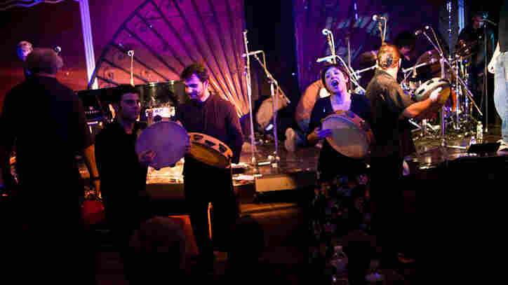 Canzoniere Grecanico Salentino performs during globalFEST at New York City's Webster Hall on Jan. 8.