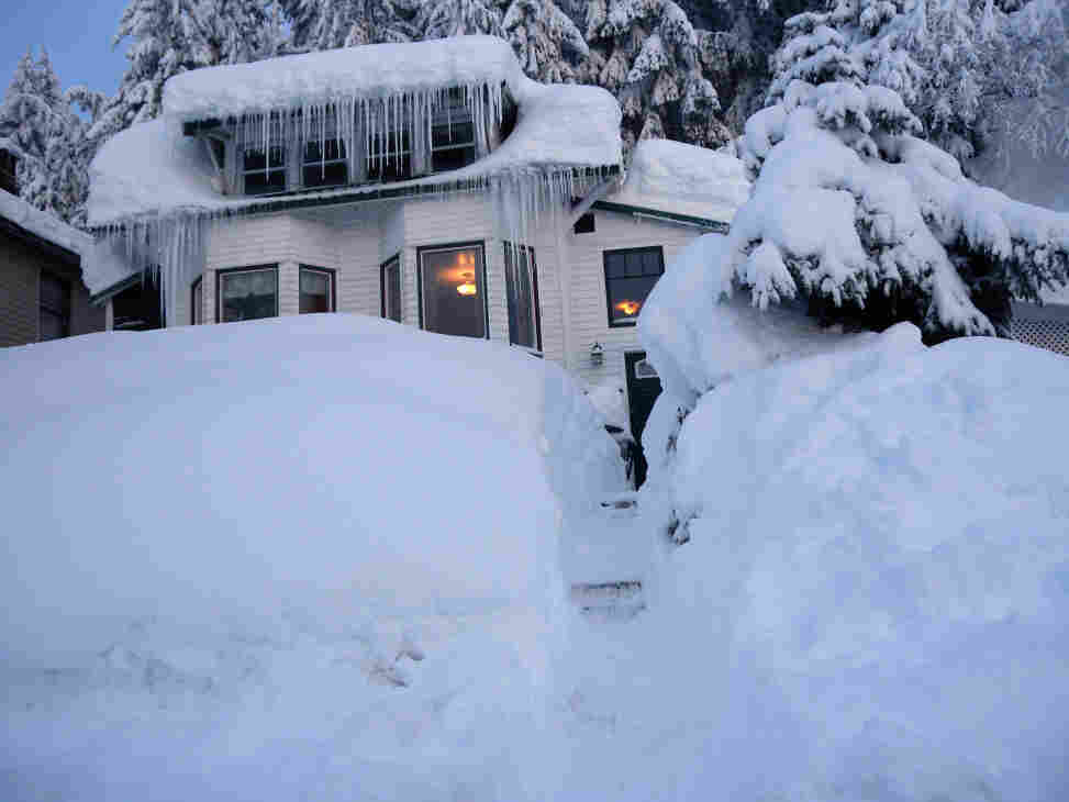 They're running out of places to put the snow in Cordova, Alaska. This photo was taken on Saturday (Jan. 7, 2012).