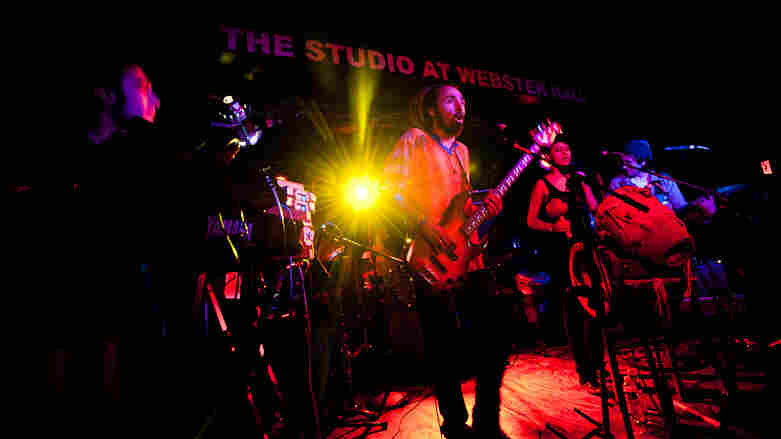 M.A.K.U. Sound System performs during globalFEST at New York City's Webster Hall on Jan. 8.